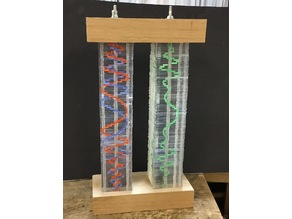 Feynman Amplitude Spiral - Double slit probabilities (Lasercut acrylic stack)