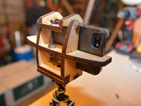 iPhone tripod mount with quick release