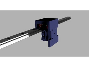 Linear Rail mount for standard HEVO Hotend mounts