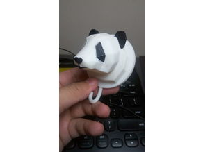 Low Polygon Panda Fridge Magnet