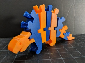 Articulated Stegosaurus / Two Color Print / Dual Extrusion