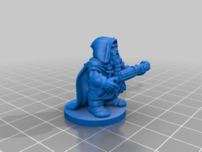 DnD Dwarf rifleman (remastered) with base