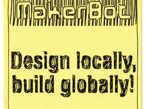 MakerBot Sticker  -