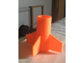 EASY Do it Yourself Rocket! Made from Easy to obtain materials and a 3D print!