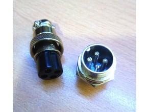 Mini chasis conector redondo microfono