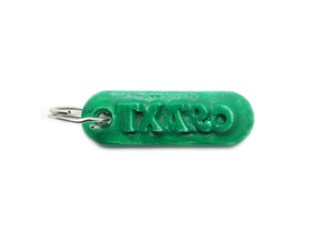 TXARO Personalized keychain embossed letters