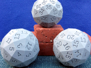 Dice with 60 and 15 or 30 Equivalent Sides