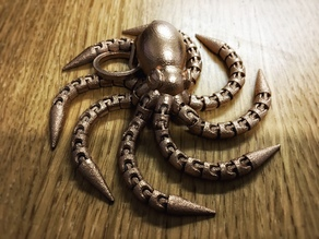 Ball-joint articulated octopus keyring remix