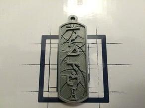 Stargate Cartouche Abydos Address Keychain