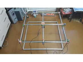 Just Another One Mostly Printed CNC (jaoMPCNC). Laser engraver cutter XY 1m x 1m x 0.5m d25 version.