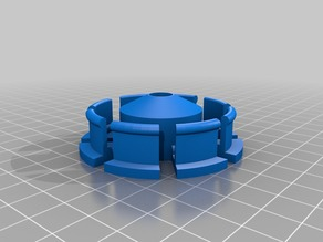 My Customized Parametric Filament Spool Hub with 608ZZ bearing 52mm