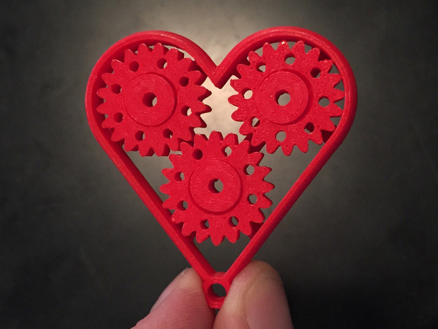 Geared heart single print with moving parts last minute gift by geared heart single print with moving parts last minute gift by urbanatwork thingiverse negle Gallery