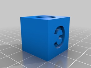 20mm Calibration Cube Cyrillic