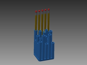 Abstract Pencil Holder