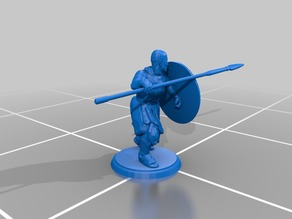Greek Soldier - Fighting Position - Spear and Shield