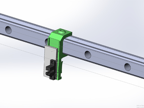 Opto endstop adaptor for hiwin 20mm rail