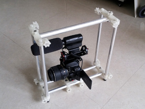 DSLR Cage (15mm Rail) Remix- with Lasers!
