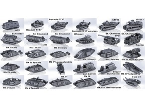 1-200 WWI tanks and vehicles