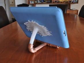 Easier to print fluid splash for iPad holder