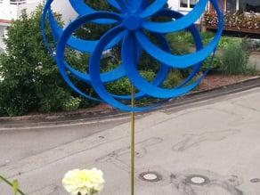 Optical Illusion Pinwheel with Bearings (old version)