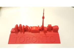 Toronto 3D Skyline Paperweight
