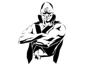 Martian Manhunter stencil