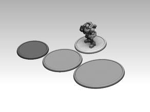 Wargaming lipped bases 50mm, 62mm and 80mm