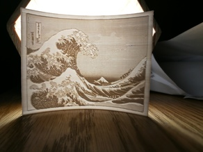 the great wave lithophane