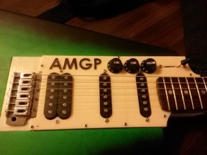 Pick Guard for the AMGP printable guitar (SSH)