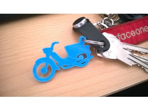 Moped Keychain