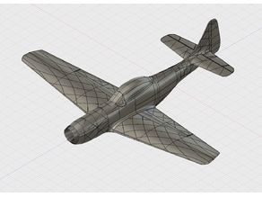 3D printable Mustang p51 with 1090mm wingspan