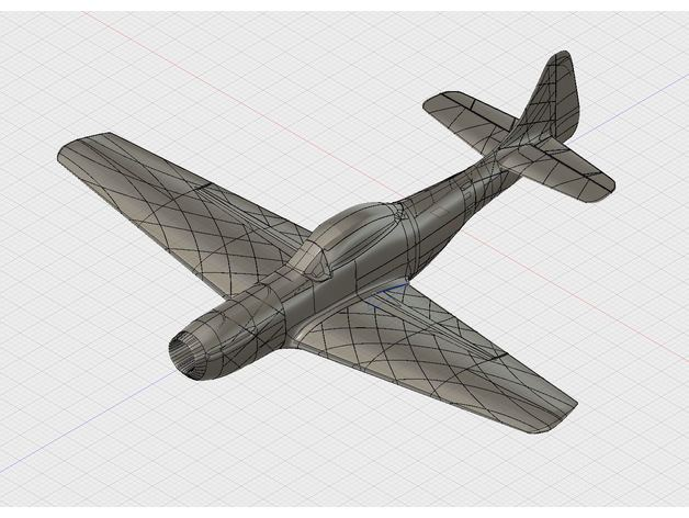 3d Printable Mustang P51 With 1090mm Wingspan By