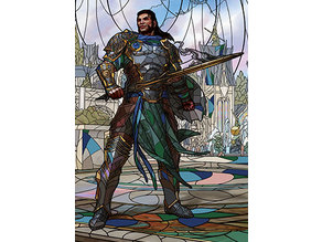 Gideon Blackblade - stained glass - litho