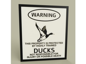 LOL - Warning Ducks