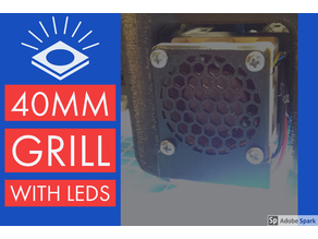 40mm Fan Grill with LED strip