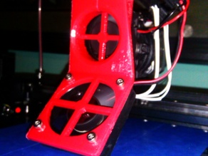 Hinge Style Fan Bracket for Makergear M2