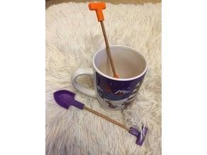 Spade / Shovel Dessert Spoons
