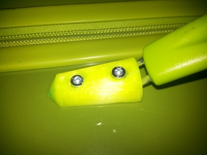 Travel luggage bag handle