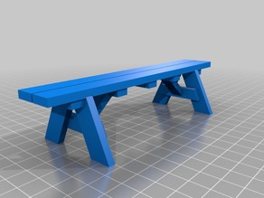 3DBear Picnic Bench - a Picnic Table remix