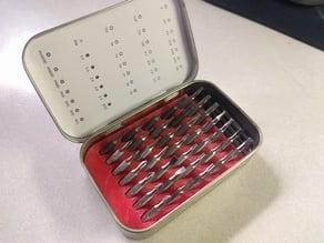Altoids Tin Precision Screw Driver Bit Organizer