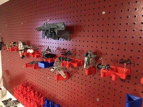 X-Wing Miniatures Pegboard Display