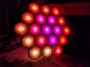 Hexalenses - Hexagonal Articulated LEDs Of Arbitrary Shape/Size