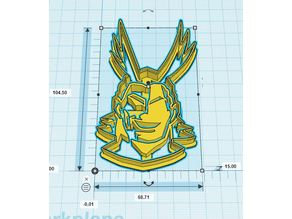 All Might Cookie Cutter #1