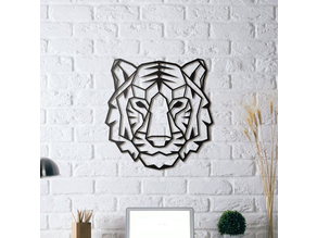 Tiger wall Sculpture 2D