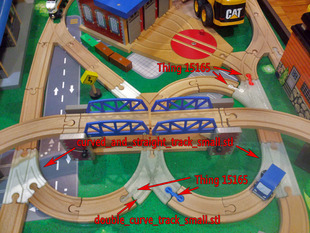 OpenSCAD train track library SE