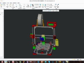 2020 extrusion printer (refer prusa I3) 2017/02/22 upload .STP (easy for edit)