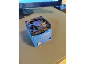 Dremel CNC Case 70mm Fan Holder