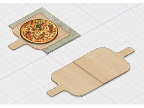 Wooden Pizza Slide / Pusher/ Schieber