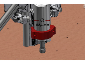 MPCNC Machifit-Spindel Mount for Tool_Mount_F_4mm