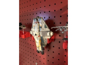 X-Wing Miniatures Pegboard Ghost Display